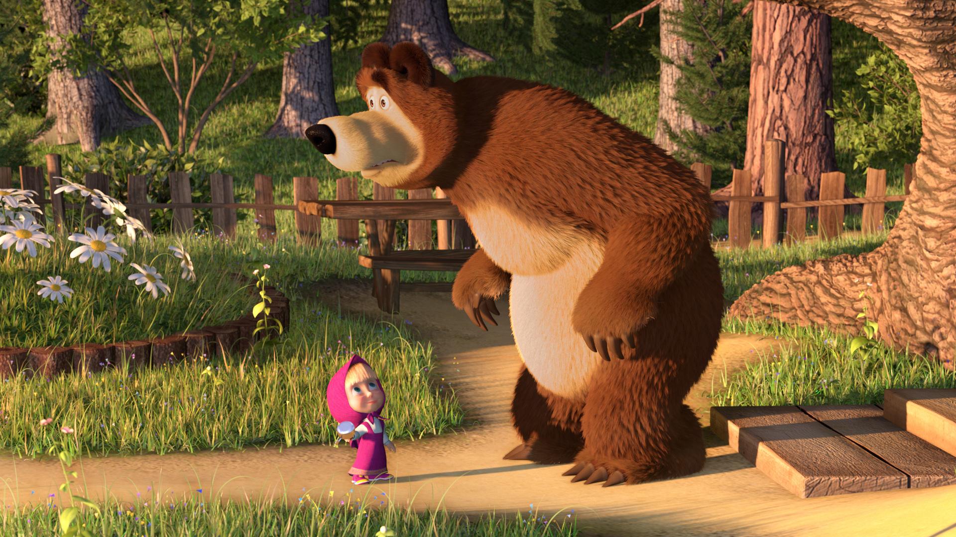 игра маша и медведь красная шапочка